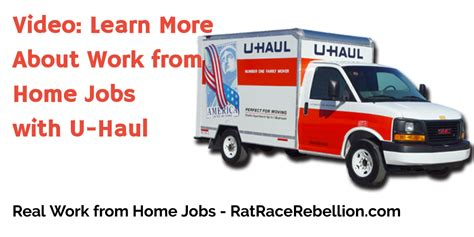 work from home with u haul real work from