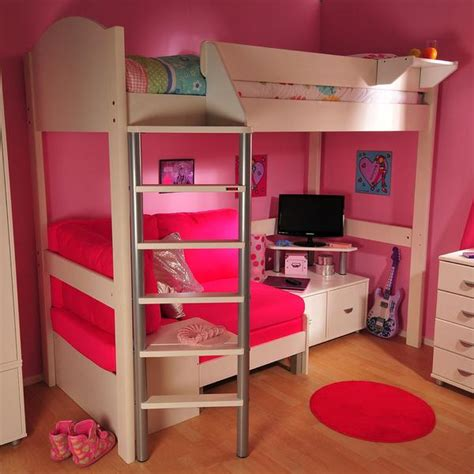 couch beds for girls high sleeper loft beds with sofabed futon sofa desk
