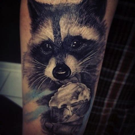 racoon tattoo 16 amazing raccoon tattoos