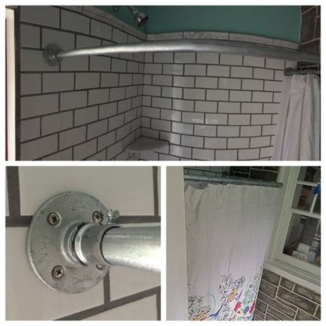 electrical conduit curtain rod curved shower curtain rod made of 3 4 quot electrical conduit
