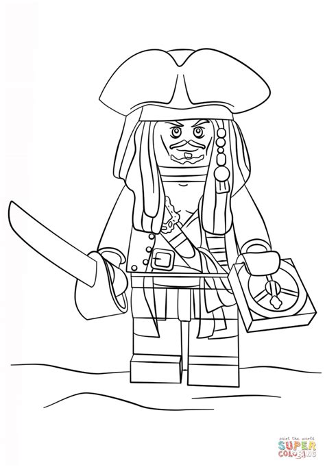 lego ninjago pirate coloring pages lego jack sparrow coloring page free printable coloring