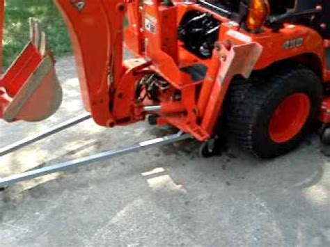 backhoe removal demonstration  bxpanded backhoe dolly
