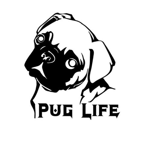 pug decal compare prices on pug car stickers shopping buy low price pug car stickers at