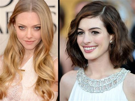 inverted triangle center part hair 10 best best haircuts for an inverted triangle face or