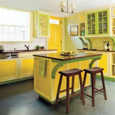 yellow and green kitchen ideas cheerful summer interiors green yellow kitchen designs