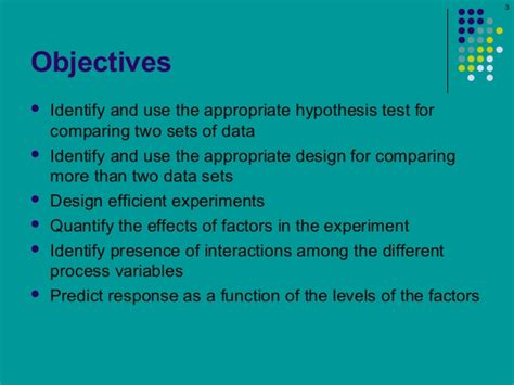 design of experiment notes design of experiments lecture 2