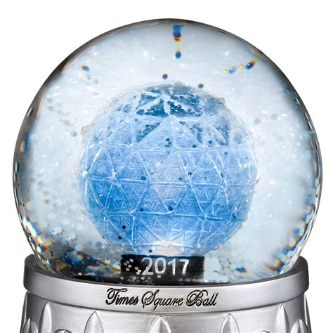 waterford times square snow globe silver