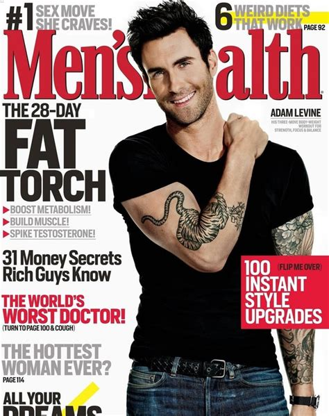 Coachs Fragrance Debuts March 5 by Adam Levine Covers S Health March 2013 Launches