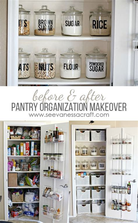organization small pantry makeover in 2018 home