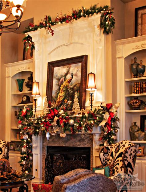 mantle garland living room decor