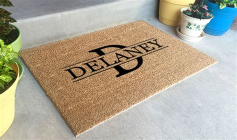 personalized rugs for personalized doormats company custom logo mats coir