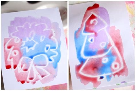 Card Making For Children - wax resist christmas cards for kids happy hooligans