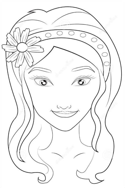 coloring page girl face 9 face coloring pages jpg ai illustrator download