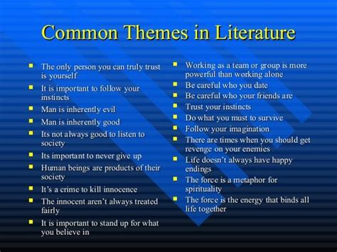 Universal Themes In Literature Exles | literature search and google on pinterest