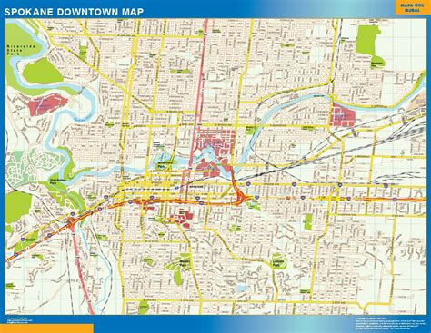 spokane map world wall maps store spokane downtown map more than 10 000 maps our spokane
