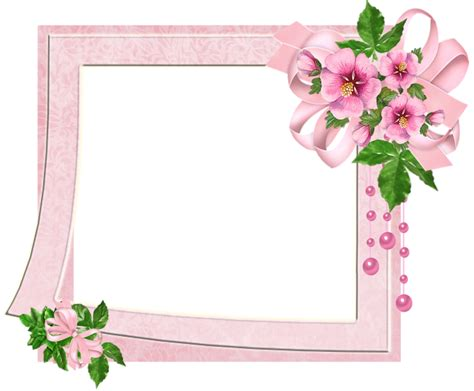 cute pink transparent photo frame with flowers gallery