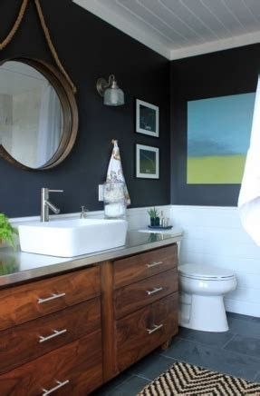 Dark Wood Vanity Foter Nautical Bathroom Vanity