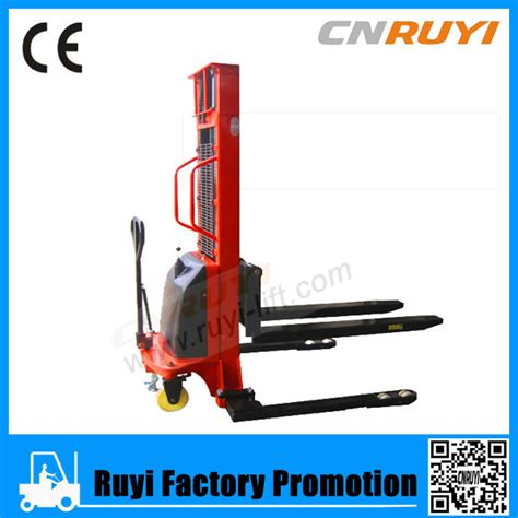 adjustable legs semi electric straddle stacker buy