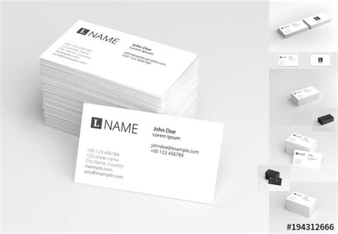 business card template adobe stock 4 in 1 business card mockup set 1 buy this stock template