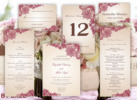 menu place cards template printable set of wedding templates invitation rsvp card