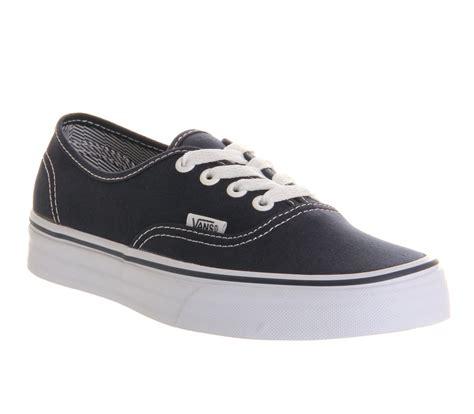 vans authentic dress blue web trainers shoes ebay