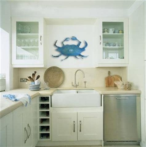 Crab Coastal Kitchen Decor Beach House Pinterest Coastal Kitchen Curtains