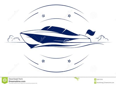fast boat icon speed boat icon stock vector illustration of flag driver