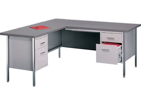 Steel Desk L by Steel L Desk W Left Return Ecd 3066l Office Desks