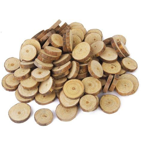 Diy Wooden 3 Cm aliexpress buy 100pcs 1 3cm approx 3cm wood log slices discs for diy crafts wedding