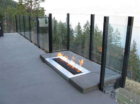 linear pit custom 36 quot linear outdoor burner modern pits