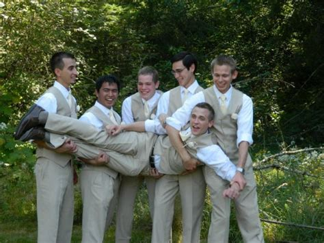 Mens Wedding Attire Vest Only by Groomsmen Wearing And Vests Only Weddingbee