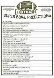 More printable super bowl party games