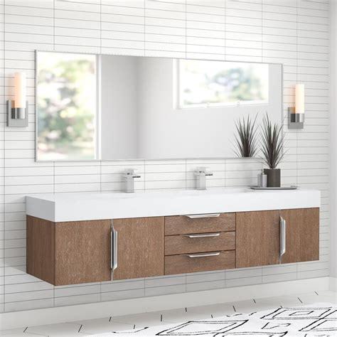 hukill  wall mounted double bathroom vanity set