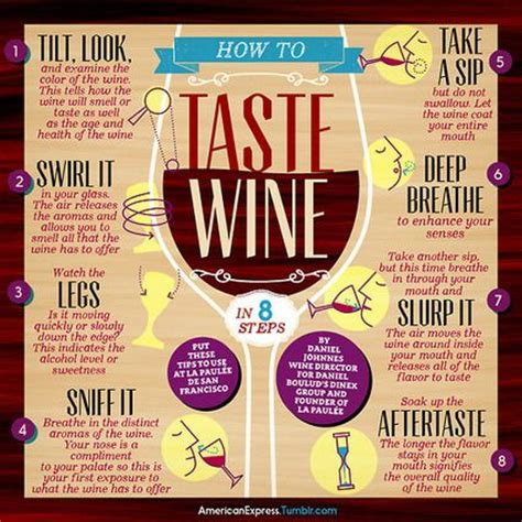 8 Tips For Choosing Wine by How To Taste Wine In 8 Steps Infographic Wine Cocktails