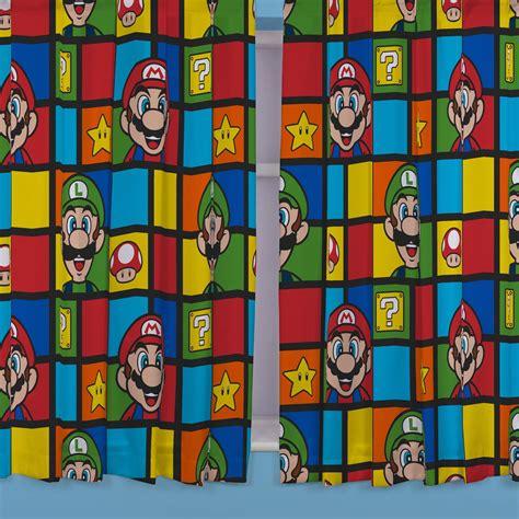 mario bros curtains nintendo super mario bros retro 66 quot x 54 quot curtains new