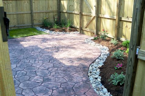 townhouse backyard landscaping ideas townhouse backyard with sted concrete patio and simple