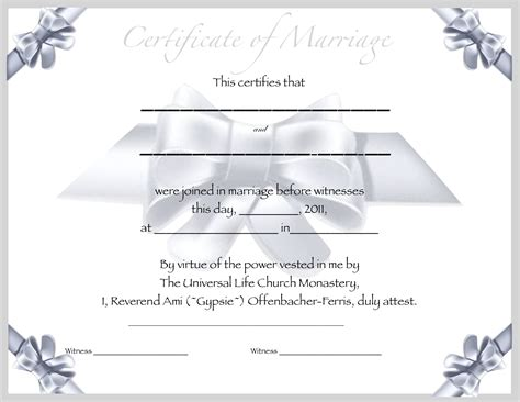 marriage certificate templates the unique wedding officiate