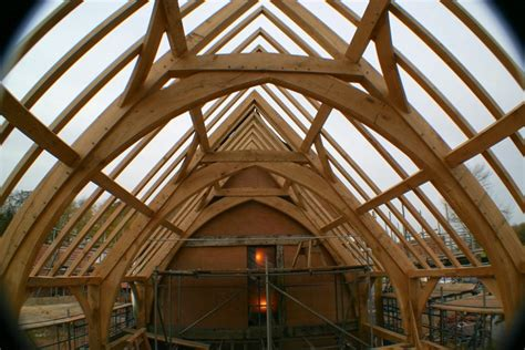 Arched Roof Construction Arch Brace Frame Chaplin Oak Timber Framing