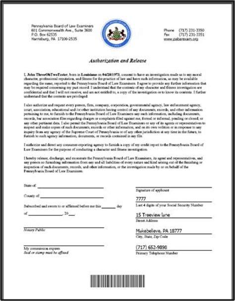 Does The Post Office Notarize by Notarized Authorization And Release Information