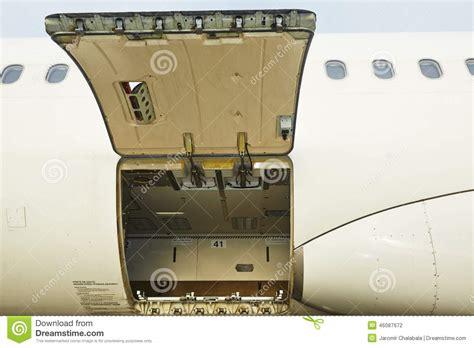open cargo door stock photo image 46087672