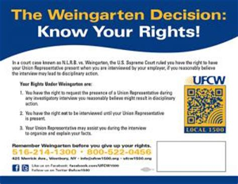 printable rights card being disciplined ufcw local 1500