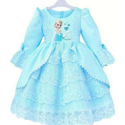 Dijamin Mukena Frozen Snow Biru Xs baju anak lucu toko bunda