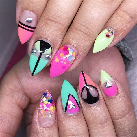 colorful acrylic nails best summer acrylic nail design ideas for 2016