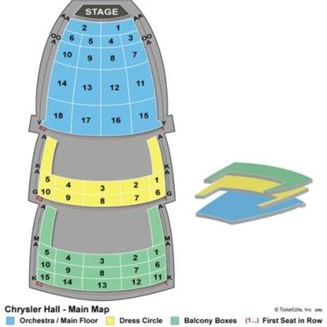 Chrysler Seating Chart View by Vipseats Chrysler Tickets