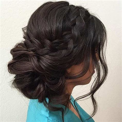 Wedding Hair Side Bun Plait by 31 Most Beautiful Updos For Prom Best Updos And Prom Ideas