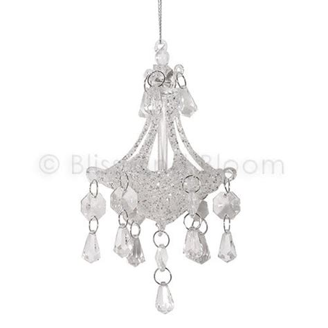 Sparkly Chandelier White Sparkly Hanging Chandelier Bliss And Bloom Ltd