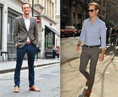 is it okay to wear brown shoes with a grey suit style