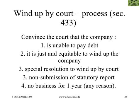 winding up of section 25 company how to wind up a sick company
