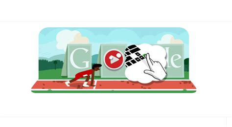 doodle olympics play play the 100m hurdles doodle if your fingers are up