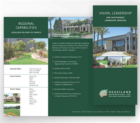 brochure layout landscape web and print design for landscape contractor evolution